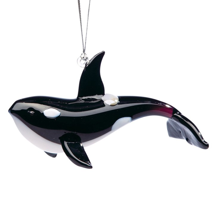 Glassdelights Ornament Orca Whale