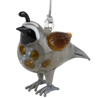 Dynasty Gallery Glassdelights Quail Bird Glass Christmas Tree Ornament Decoration Animal New